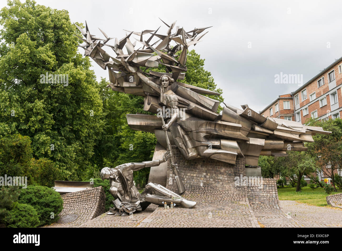 Monument to the Post Office Workers in Gdansk who were the first casualties of World War Two, Gdansk, Poland, Europe - Stock Image