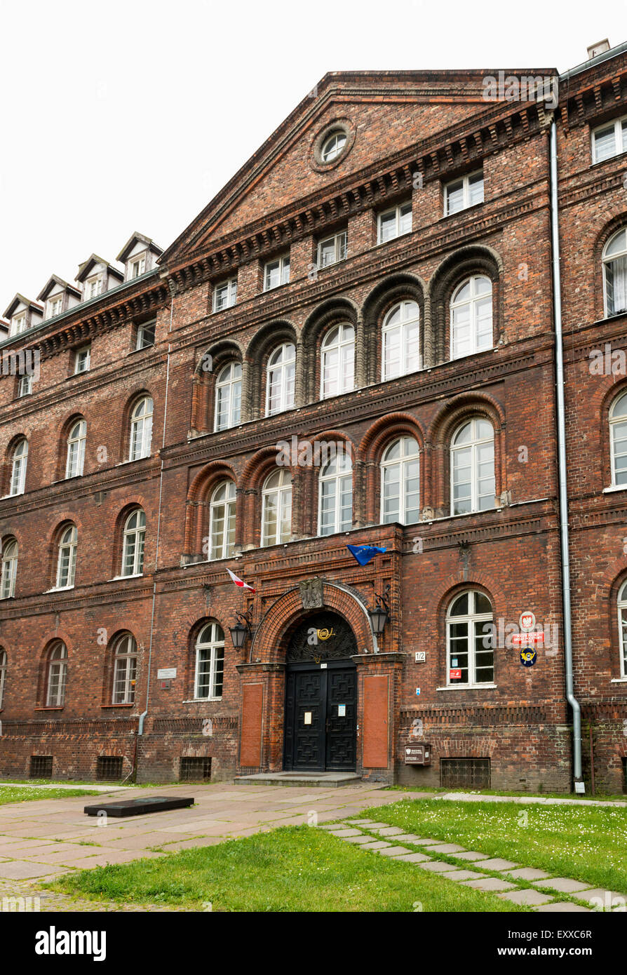 The Polish Post Office building, now also a museum in Gdansk where the first shots of World War Two were fired, - Stock Image