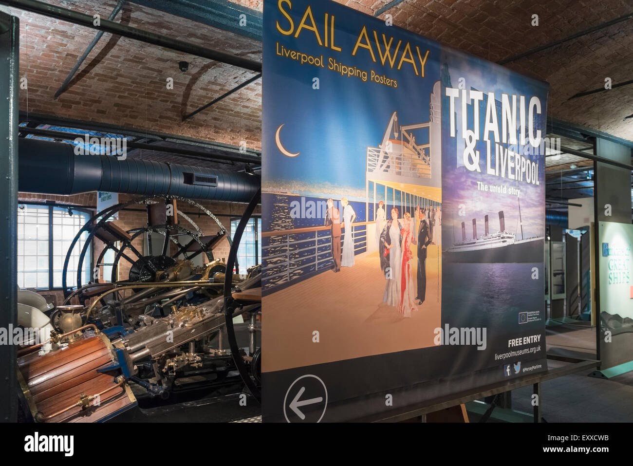 Exhibition in the Merseyside Maritime Museum, Liverpool, UK - Stock Image