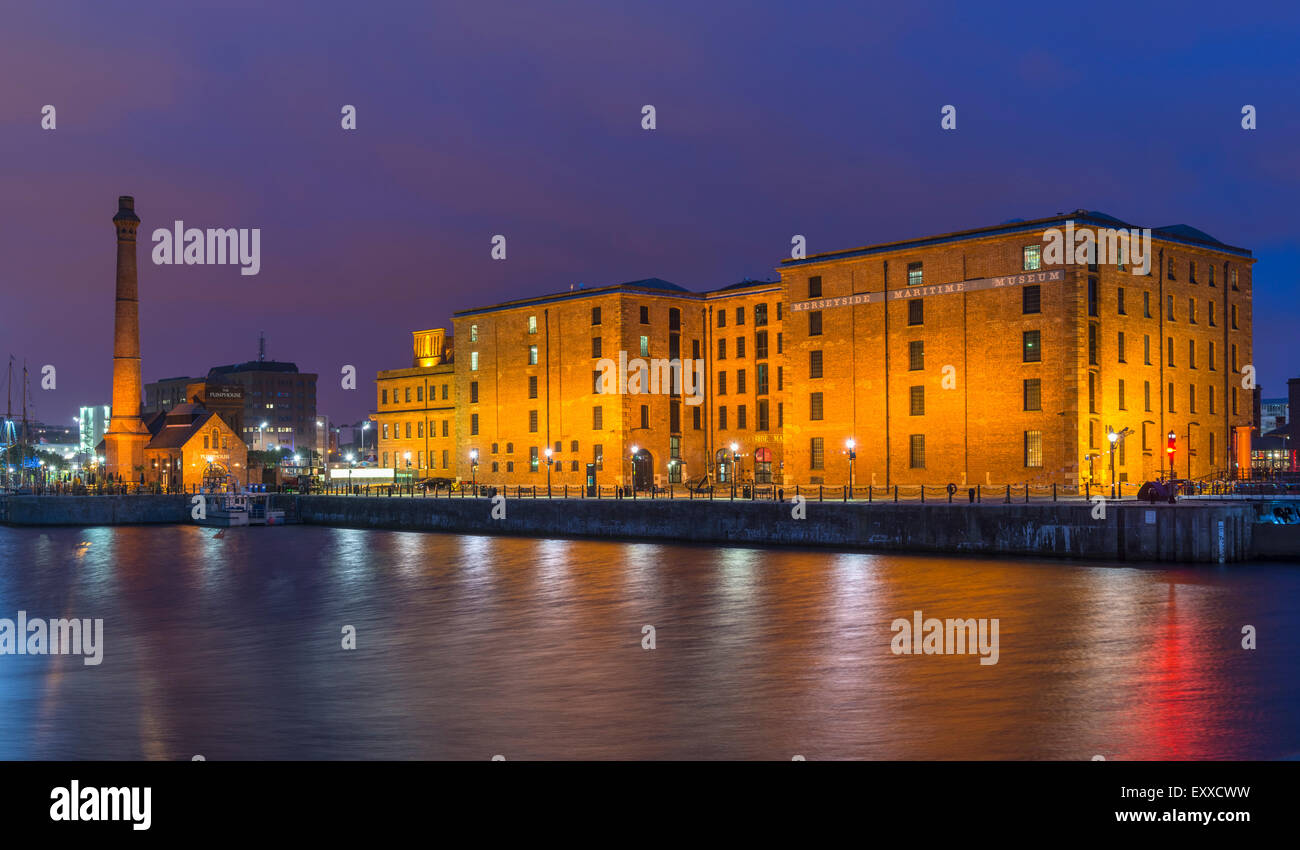 Merseyside Maritime Museum, at Albert Dock, Liverpool, England, UK - Stock Image