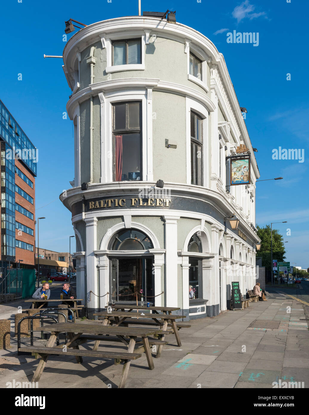 The well-known Liverpool landmark, The Baltic Fleet pub, Liverpool, UK Stock Photo