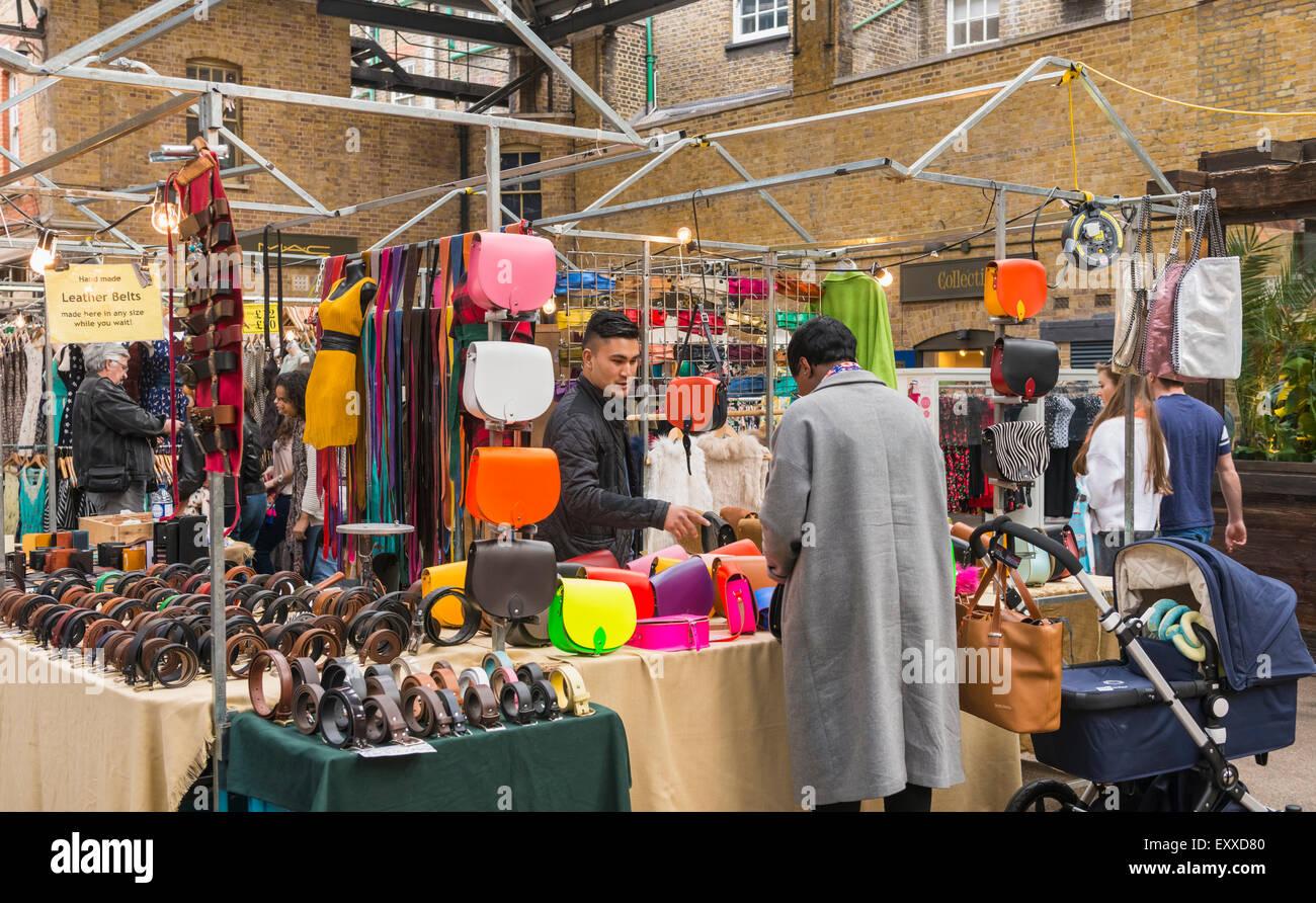 Inside Spitalfields Market, Tower Hamlets, London, England, UK - Stock Image