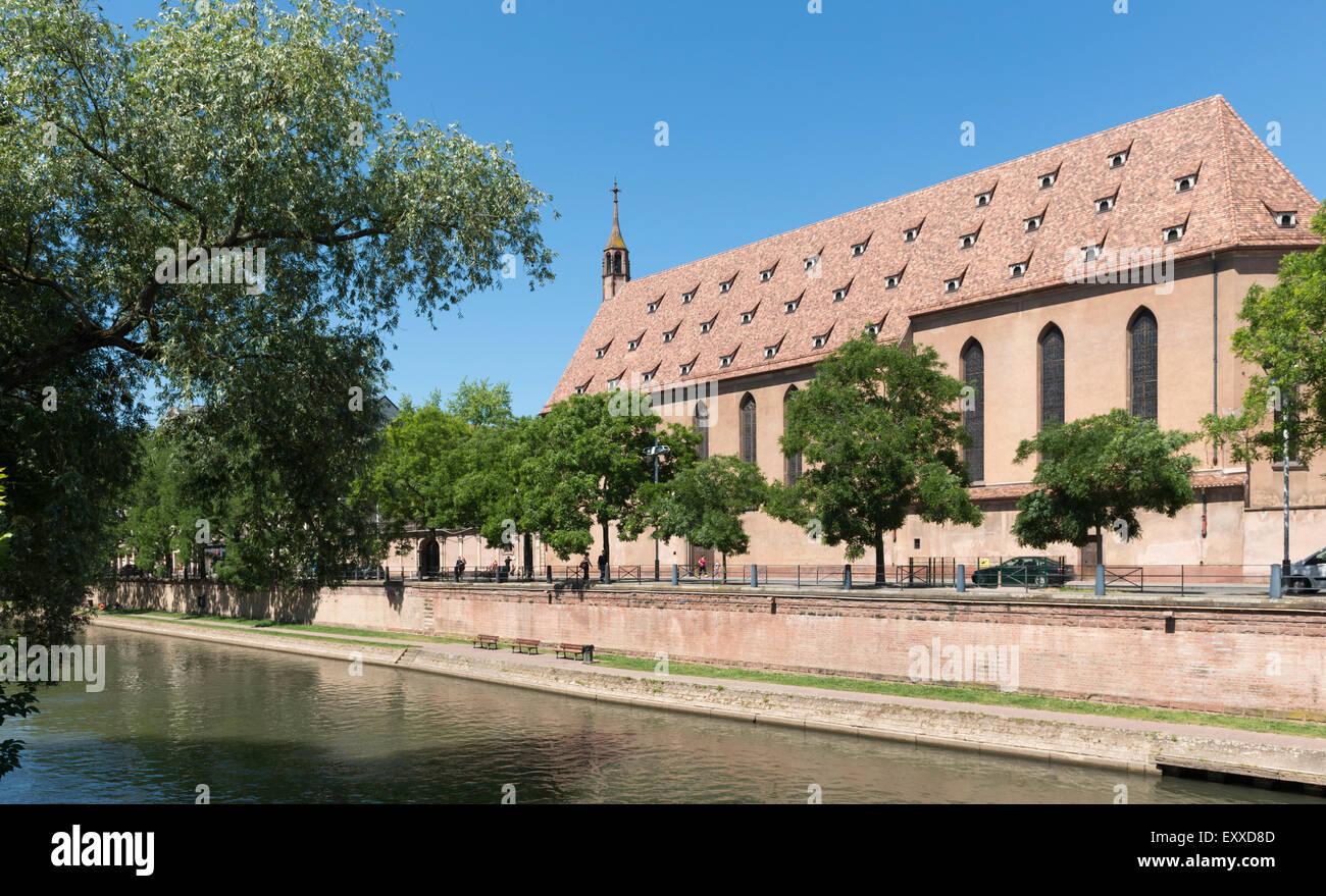 Monastery church of St John of Strasbourg, Saint Jean de Strasbourg, home to the  Monastic Fraternity of Jerusalem - Stock Image