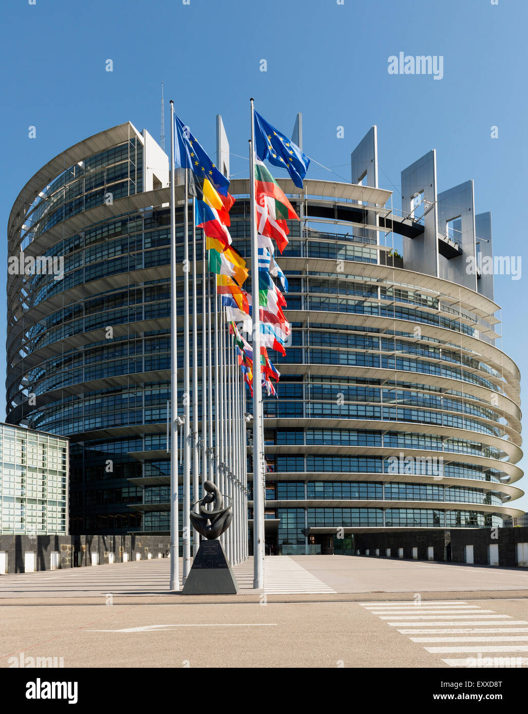 The European Parliament building, Strasbourg, France, Europe - Stock Image