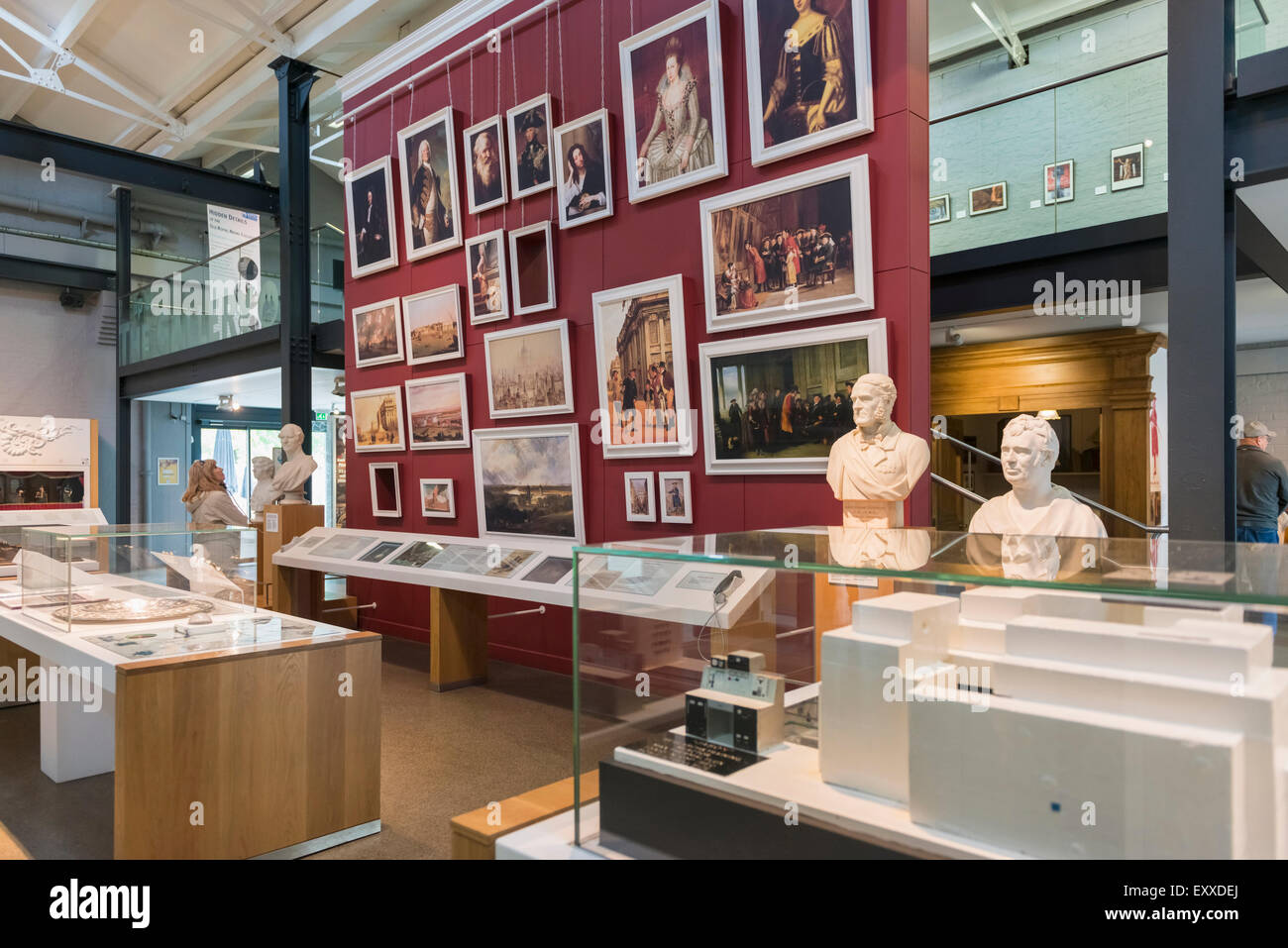 Inside Greenwich Visitors Center at the Old Royal Naval College, Greenwich, London, England, UK - Stock Image