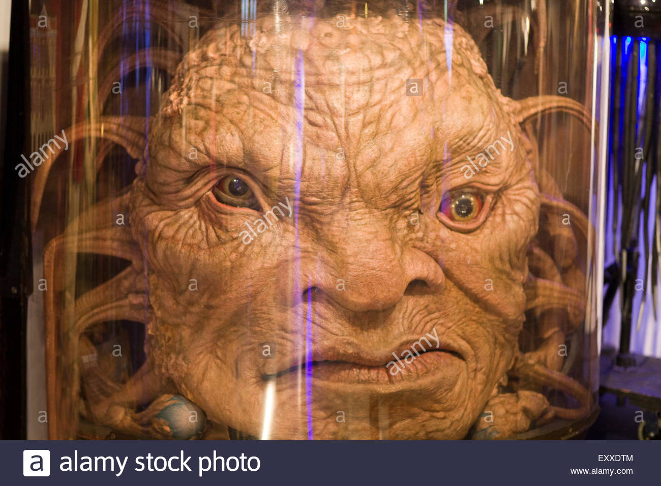 The Face of Boe Monster from the Cult Television Series Doctor Who Stock Photo