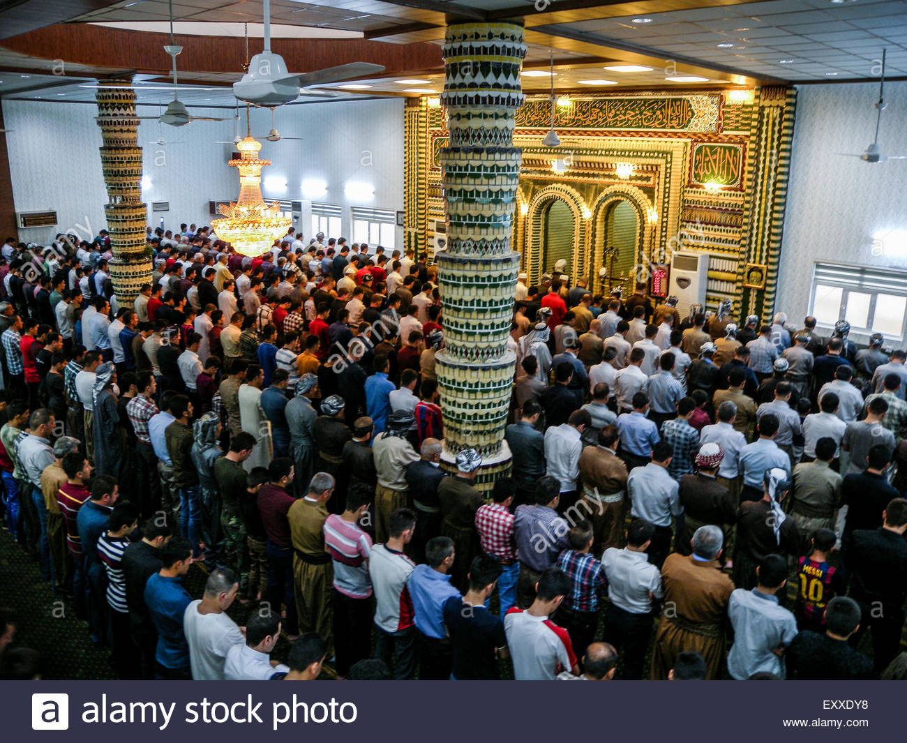 Cool Iraq Eid Al-Fitr Decorations - erbil-iraq-july-17th-2015-crowd-pray-in-mosquemuslims-celebrated-the-EXXDY8  You Should Have_414598 .jpg