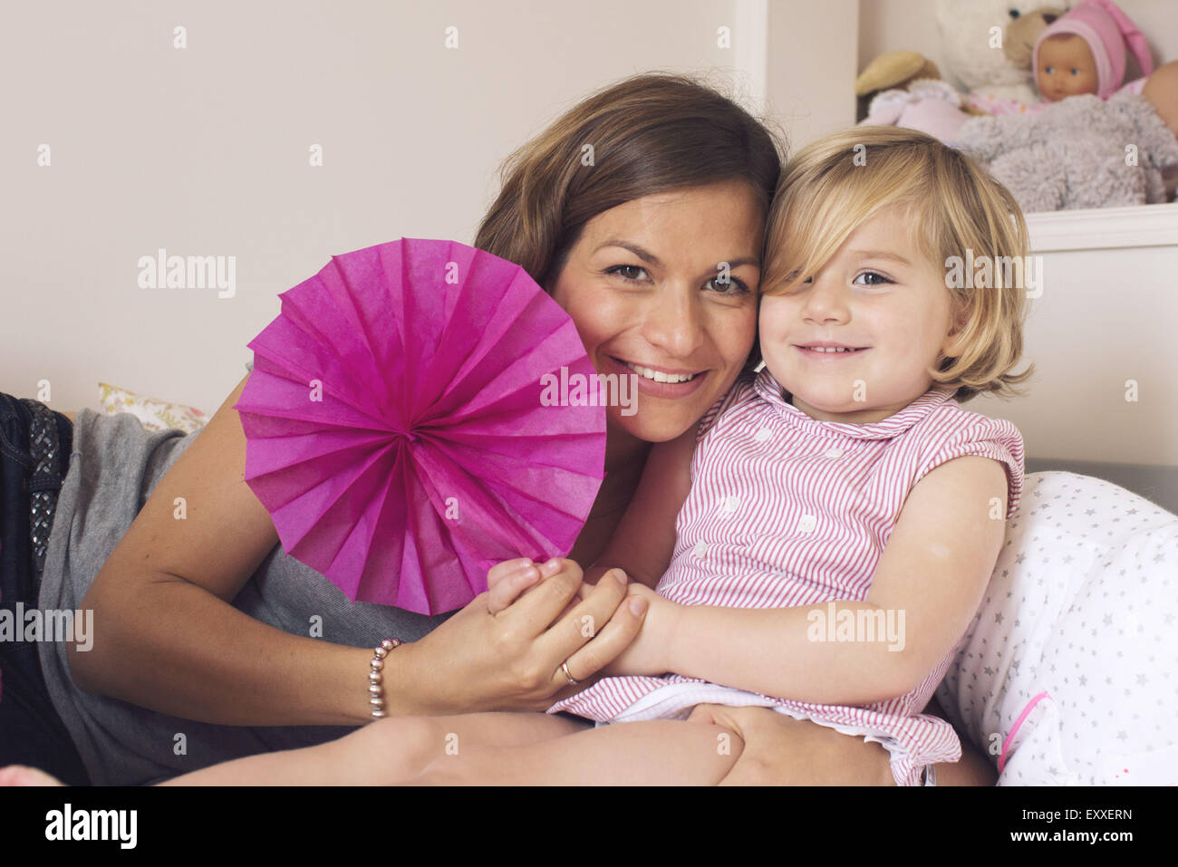 Mother and daughter, portrait - Stock Image