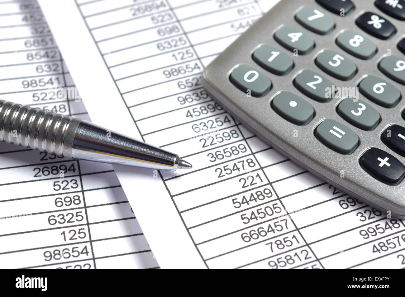 finance business calculation - Stock Image