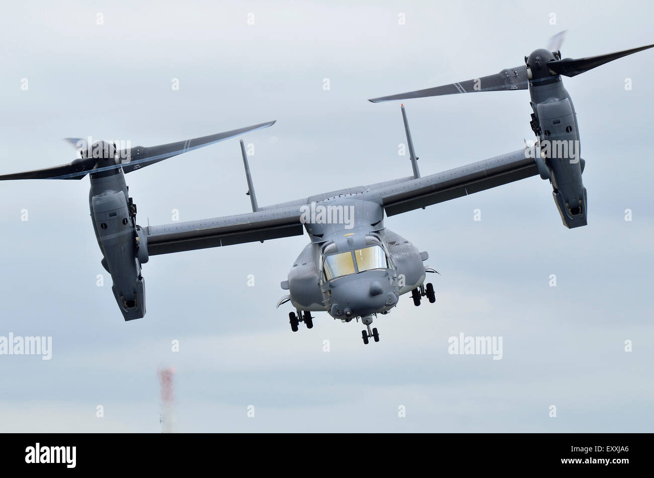 Bell Boeing CV-22B Osprey operated by the US Air Force displaying at RIAT 2015, Fairford, UK. Credit:  Antony Nettle/Alamy - Stock Image