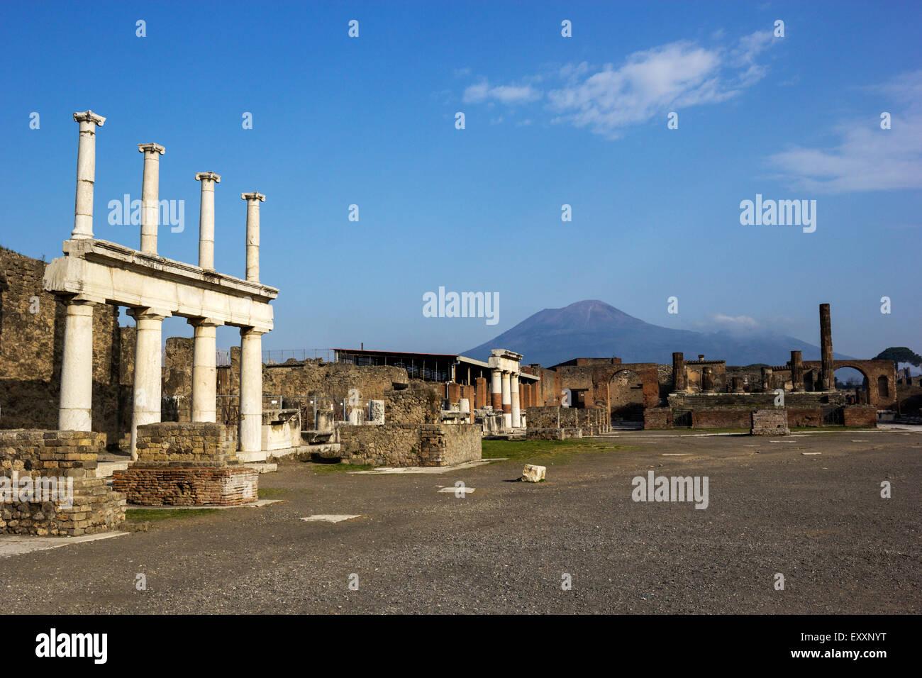 Ruins in Pompeii in Italy - Stock Image