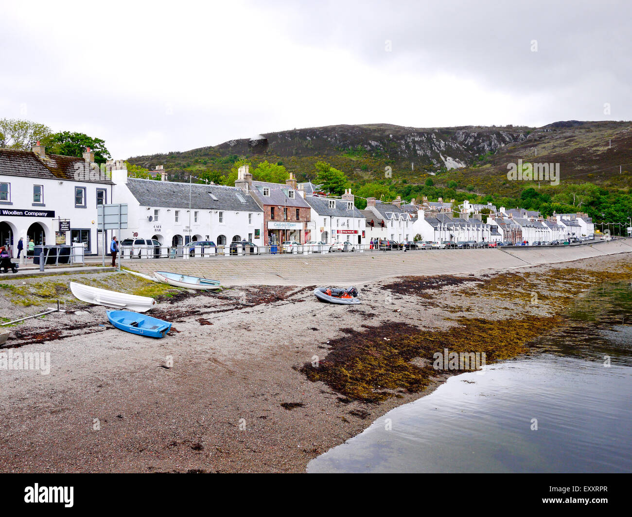 Ullapool Harbour Front, Ullapool, Wester-Ross, Scotland, UK - Stock Image
