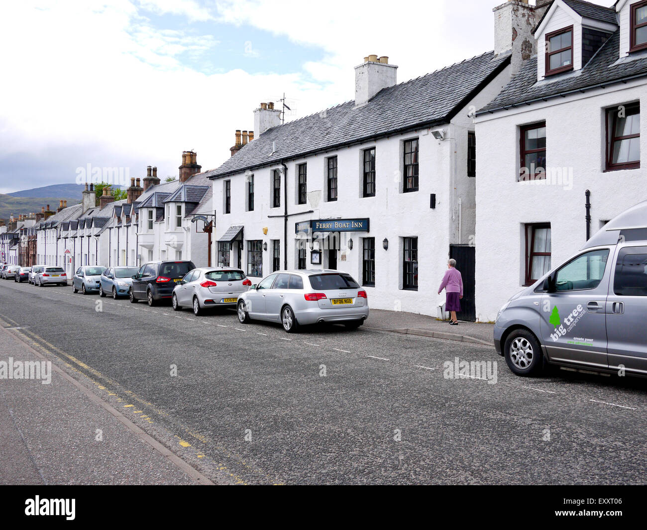 The Ferry Boat Inn Ullapool, Scotland, UK. - Stock Image