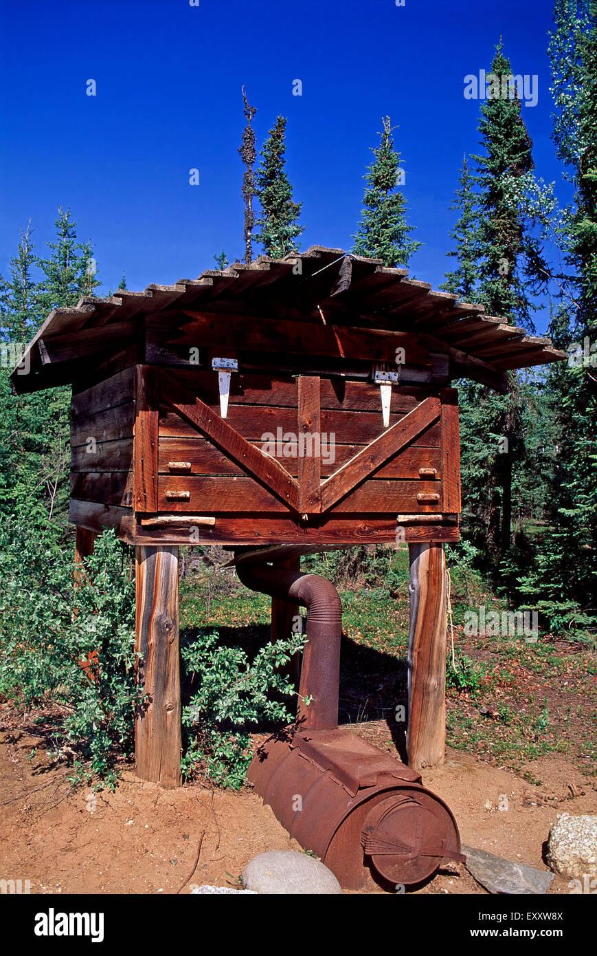 A meat smoker at Moose Creek Lodge,Yukon - Stock Image