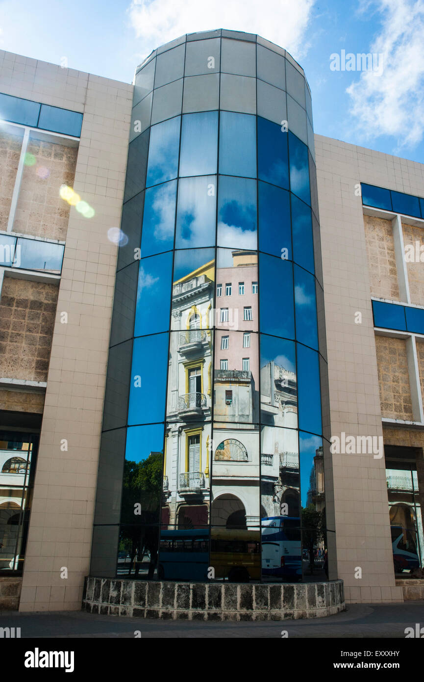 Spanish Colonial Architecture Buildings Reflected In Modern Stock