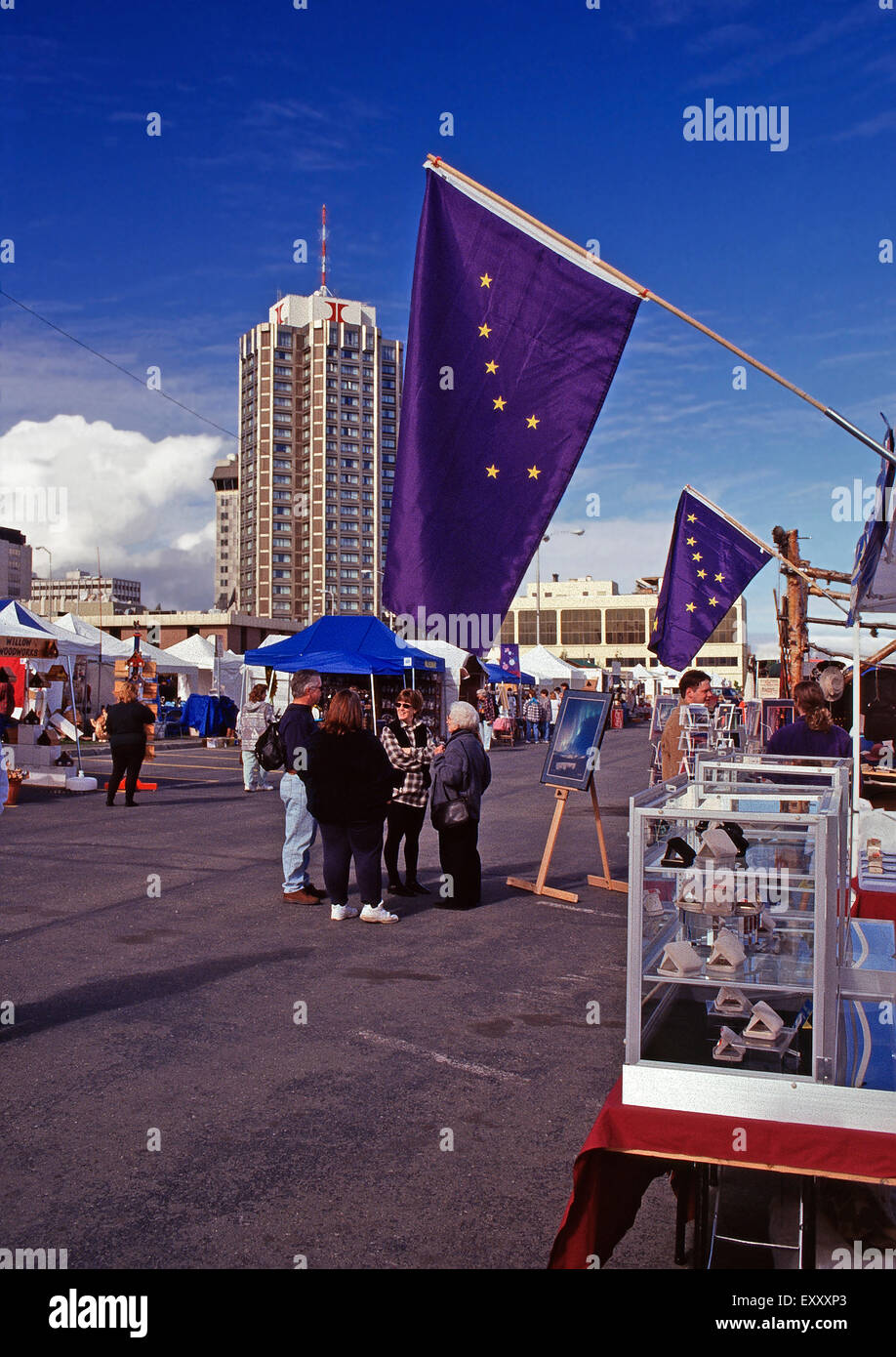 Saturday market, Anchorage,Alaska - Stock Image