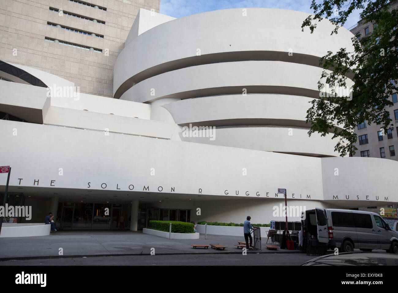 NEW YORK - May 27, 2015: The Solomon R. Guggenheim Museum, often referred to as The Guggenheim, is an art museum located at 1071 Stock Photo