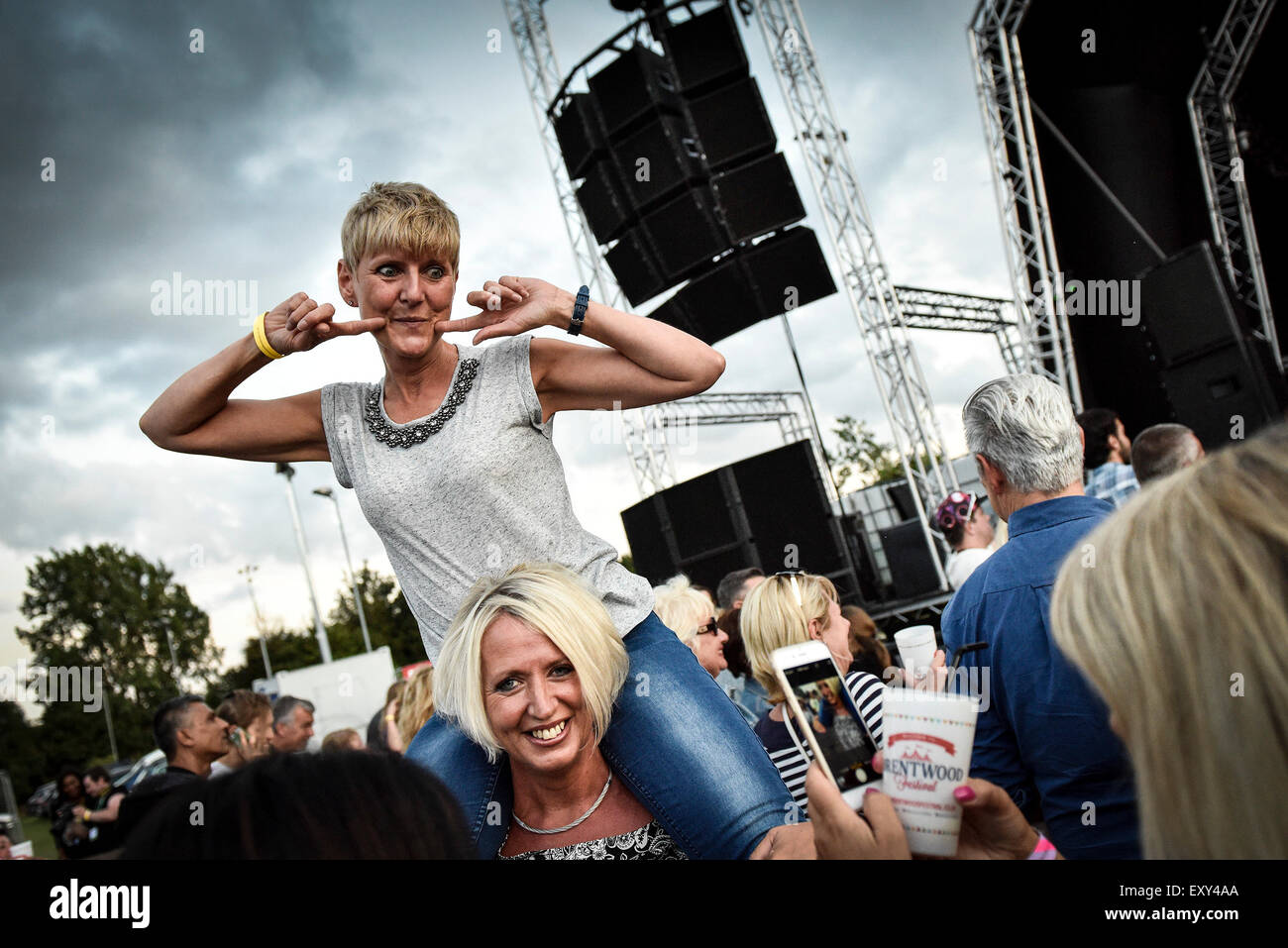 Brentwood, Essex.  17th July, 2015.  The people of Essex let their hair down and party the night away at the Brentwood - Stock Image