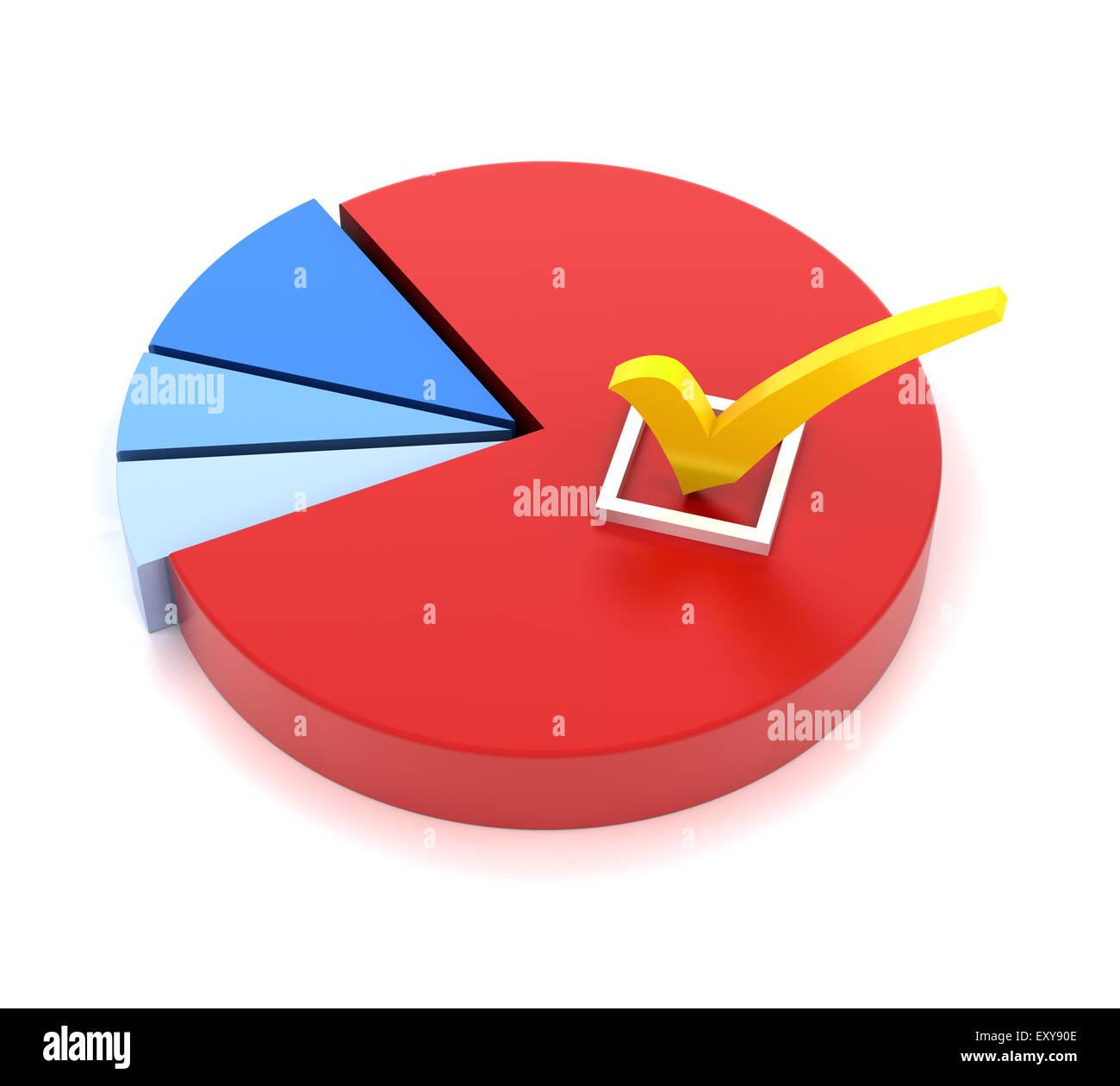 Majority choice - Stock Image