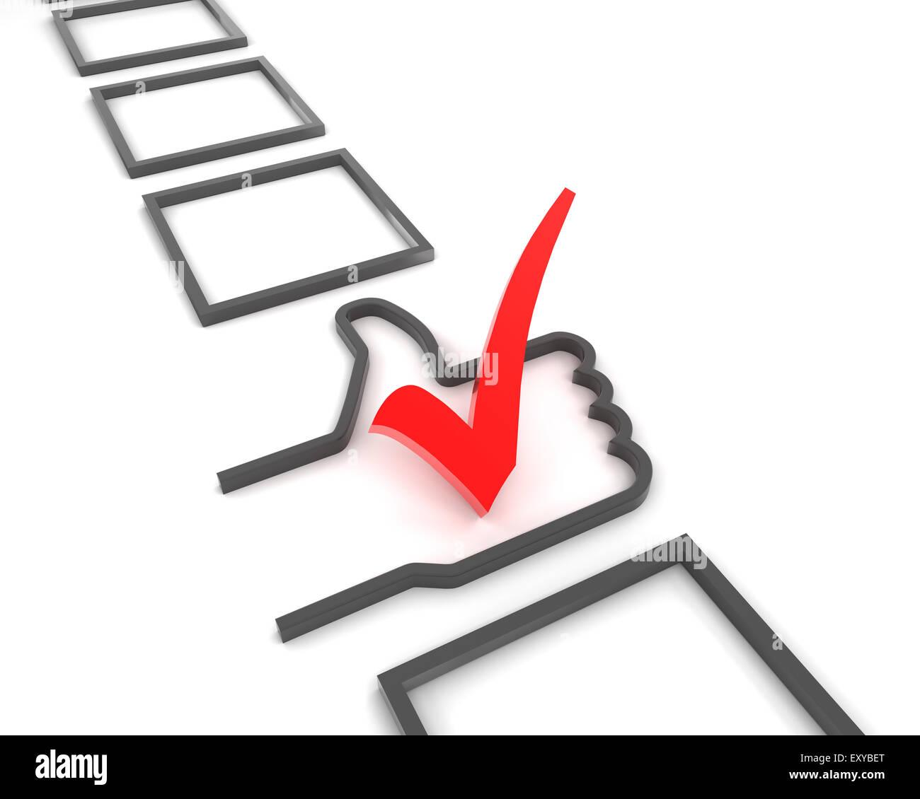 Good choice - Stock Image