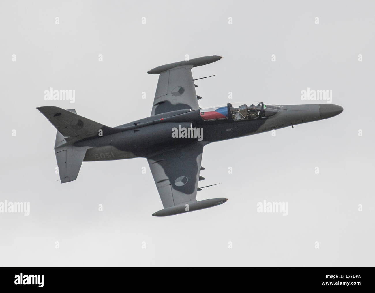 Czech Air Force Aero L-159 ALCA  jet aircraft flying at the 2015 Yeovilton Royal Navy Air Day - Stock Image