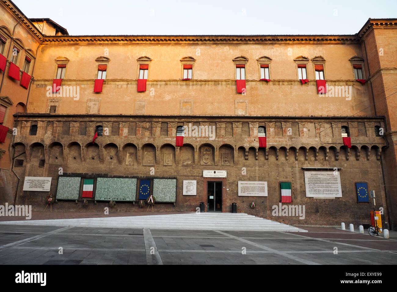 Biblioteca SalaBorsa housed in the Palazzo D'Accursio, Bologna - Stock Photo