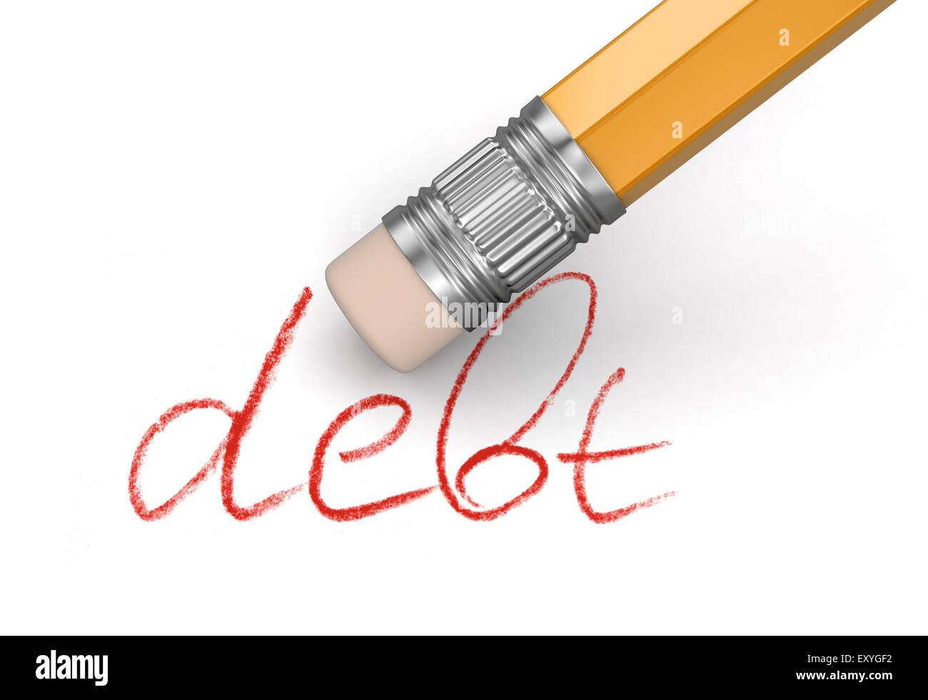 Erase Debt (clipping path included) - Stock Image