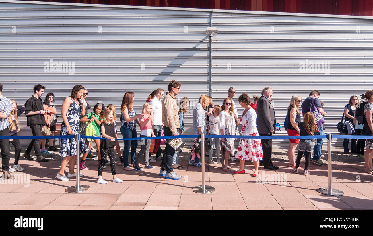 London, UK.  18 July 2015. Thousands of girls, aged between eight and 12, converge on ExCel London to attend Warner Stock Photo