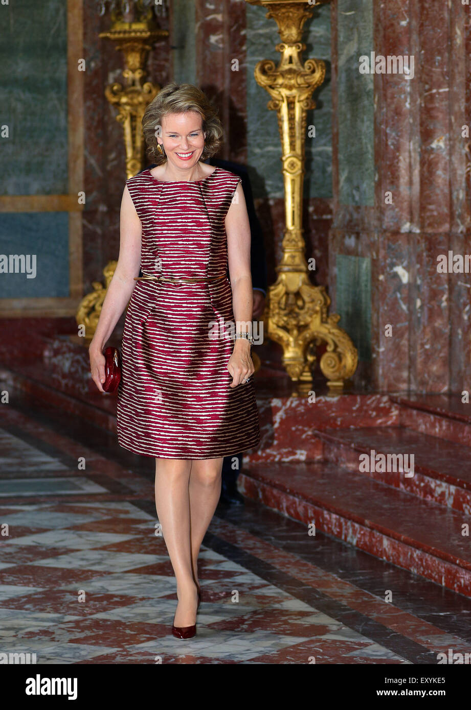 80628c0d4925c6 Belgian Queen Mathilde attends the opening of the Exhibition  yourservice  in the Egmont Palace in Brussels