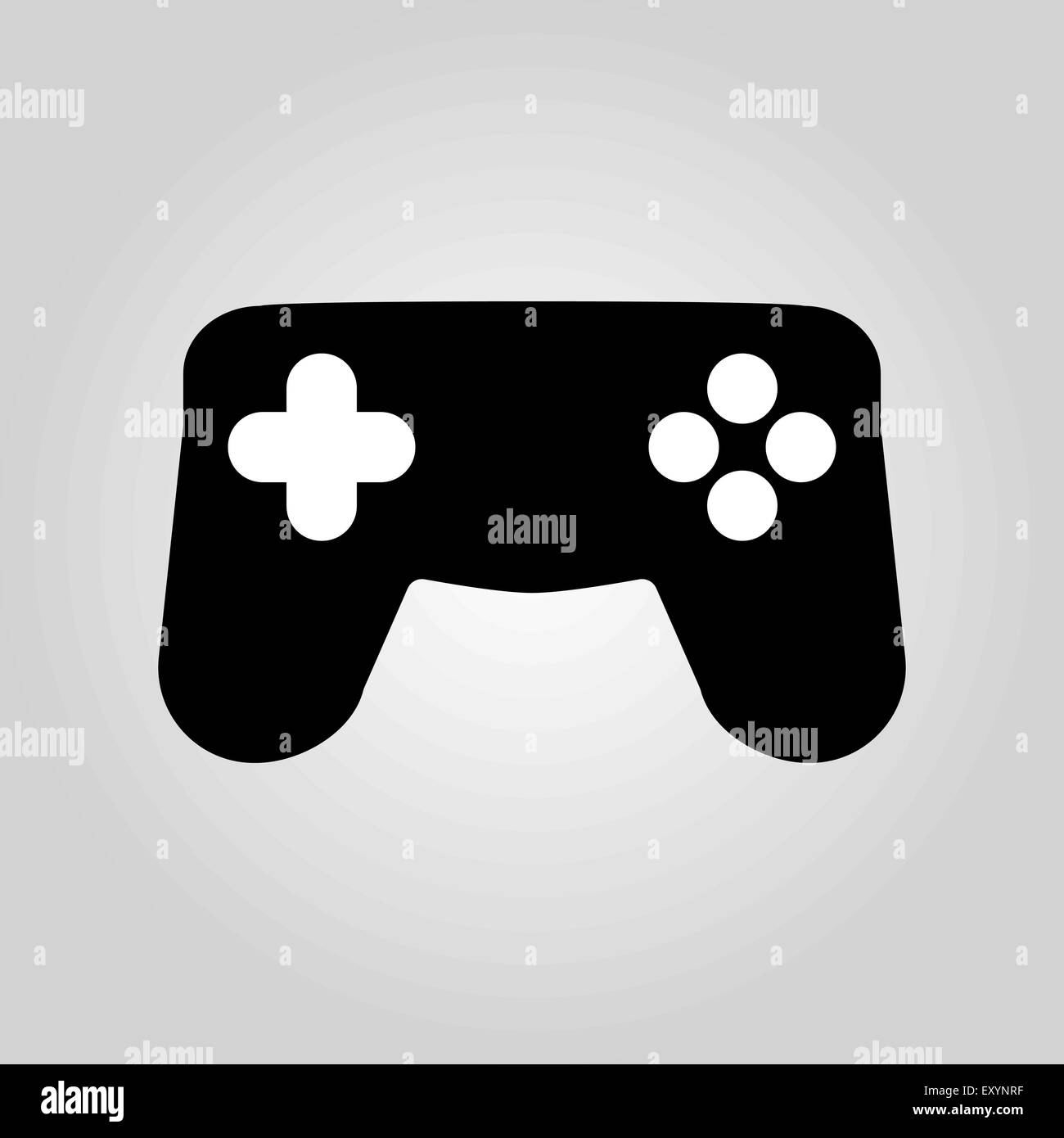 The gamepad icon  Game symbol  Flat Stock Vector Art
