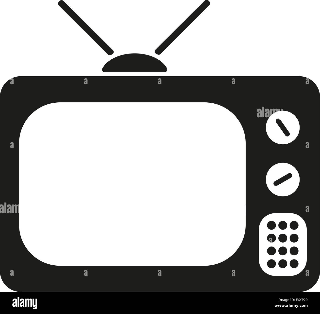 The tv icon. Television symbol. Flat Stock Vector Art  for Tv Antenna Symbol  66pct