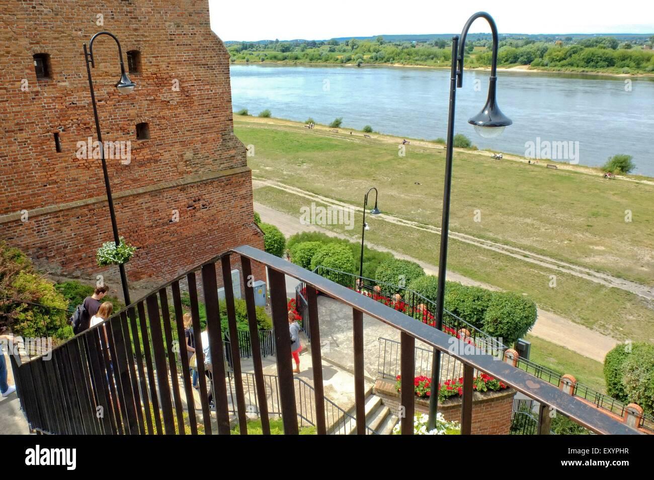 Grudziadz, Poland 12th, July 2015 General view of city of Grudziadz laid on the Vistula River in northern Poland. Stock Photo