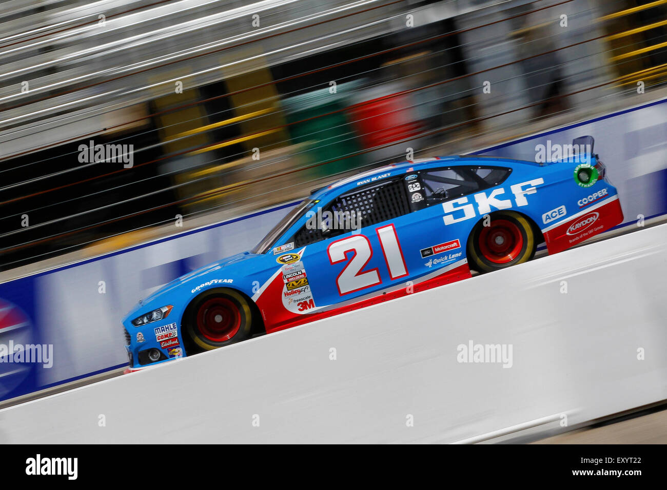 Loudon, NH, USA. 17th July, 2015. Loudon, NH - Jul 17, 2015: Ryan Blaney (21) practices for the 5-hour ENERGY 301 - Stock Image