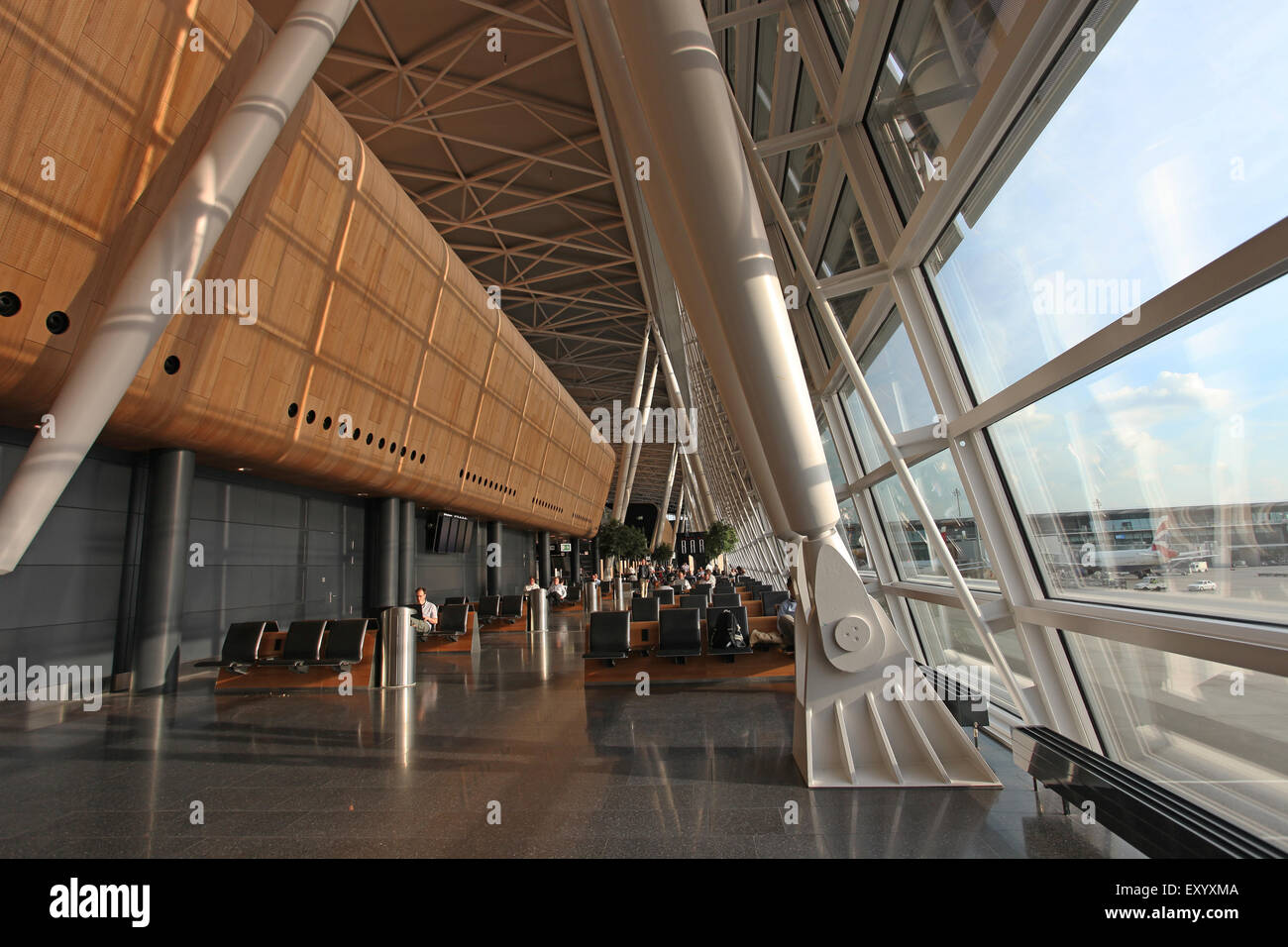 Zurich Airport Departure Lounge - Stock Image