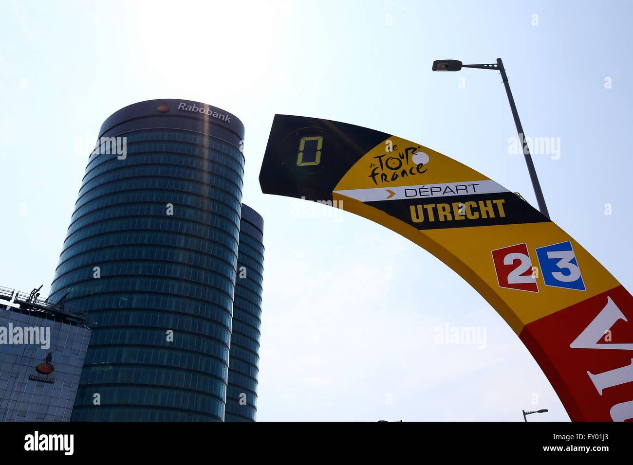 Illustration Depart - 05.07.2015 - Etape 2 Utrecht/Zelande - Tour de France 2015.Photo : Manuel Blondeau/Icon Sport - Stock Image