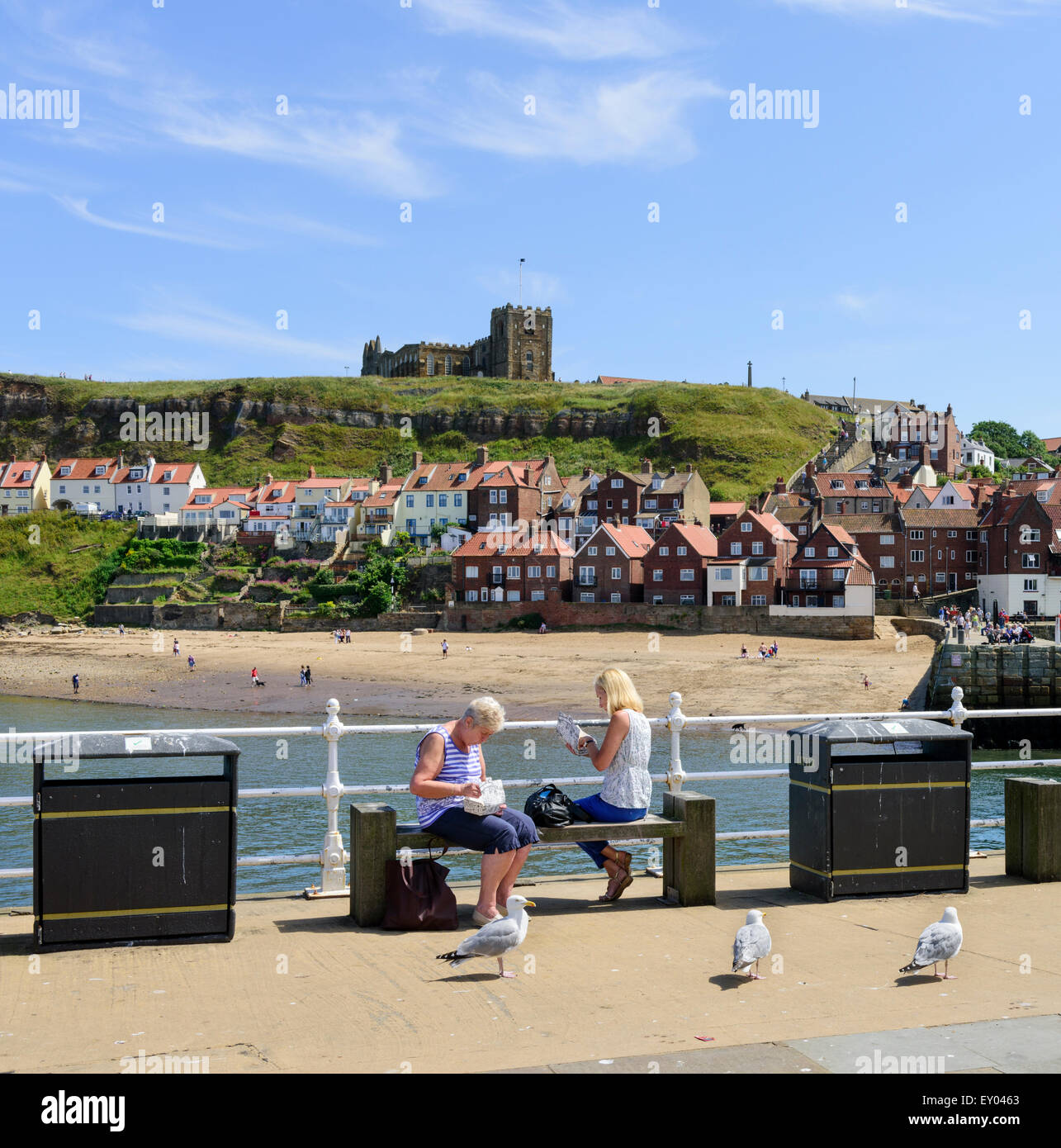 Whitby Seafront - Stock Image