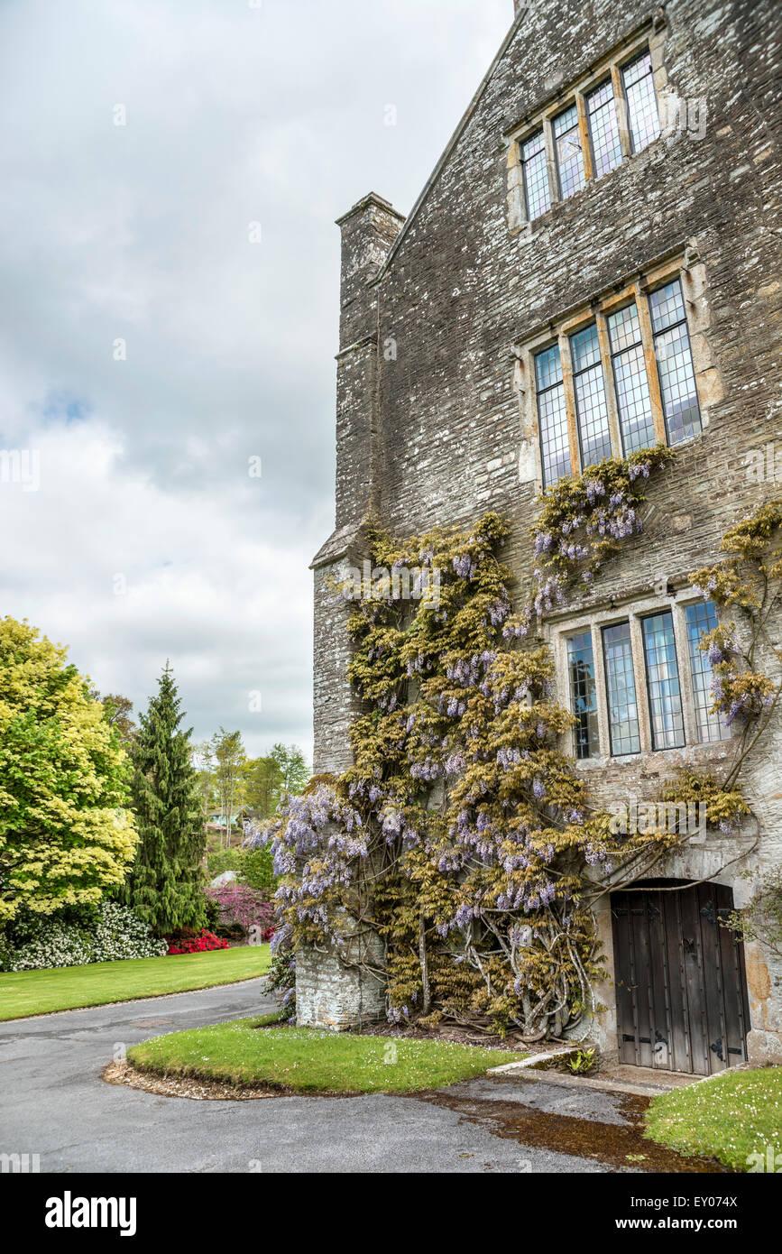 Buckland Abbey and Gardens, a 700-year-old house in Buckland Monachorum, near Yelverton, Devon, England - Stock Image