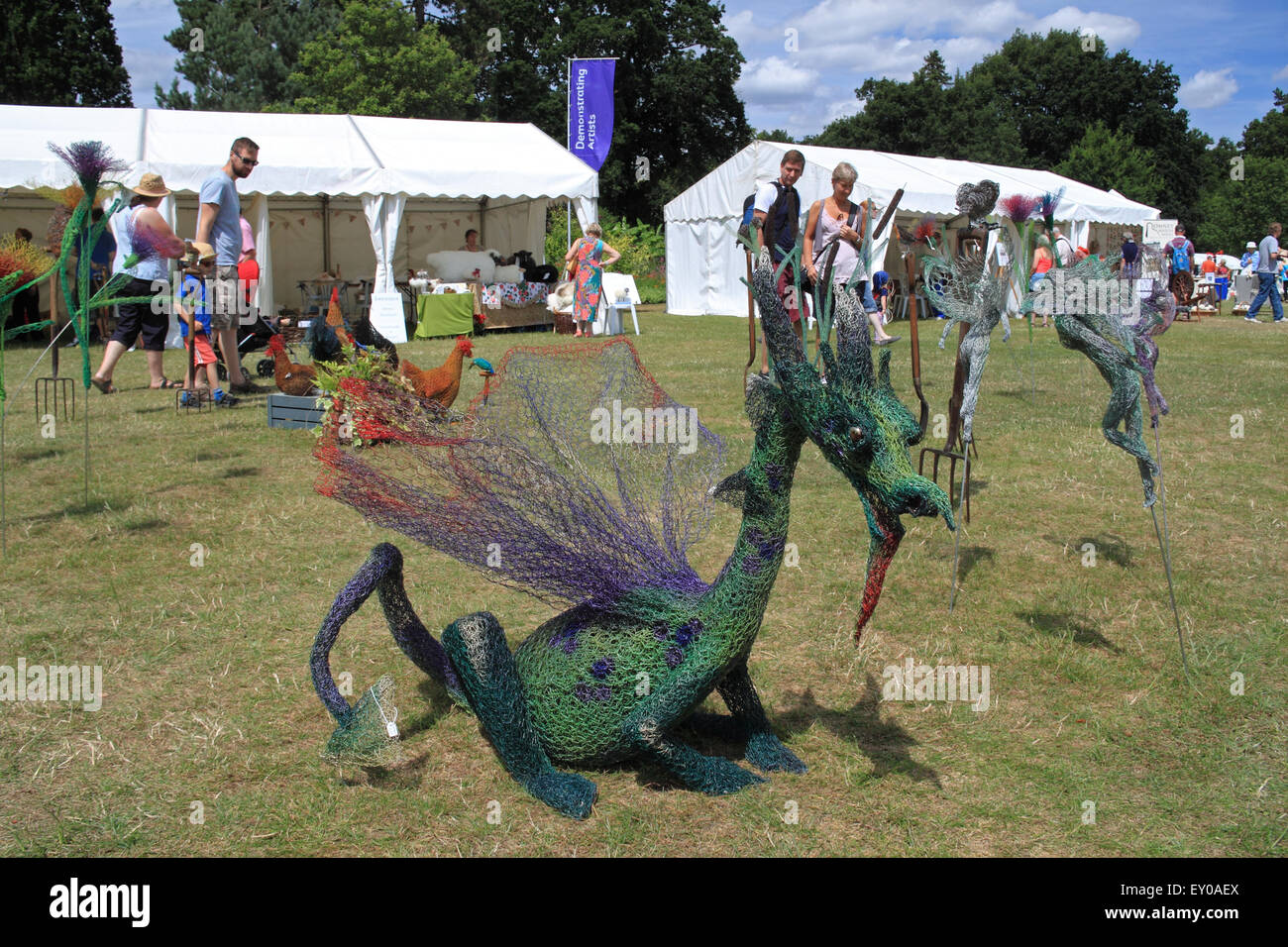 Arts demonstrations at Royal Horticultural Society Arts Fest, RHS Garden Wisley, Woking, Surrey, UK. 18th and 19th - Stock Image