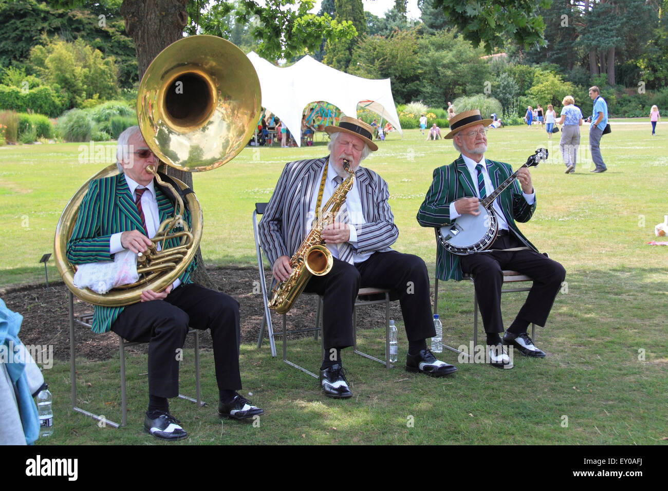 Jazz Magic at Royal Horticultural Society Arts Fest, RHS Garden Wisley, Woking, Surrey, UK. 18th and 19th July 2015. - Stock Image