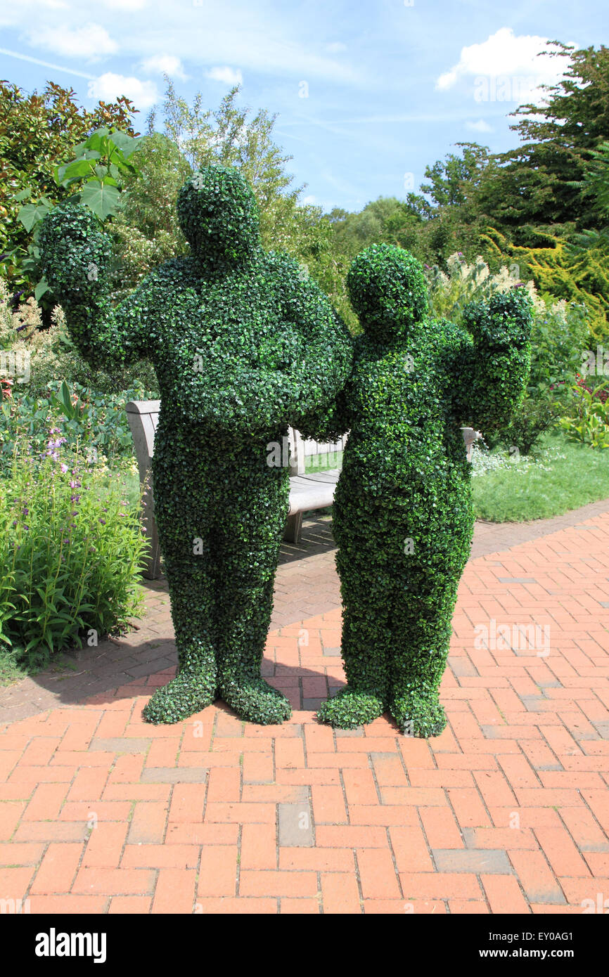 The Hedgemen at Royal Horticultural Society Arts Fest, RHS Garden Wisley, Woking, Surrey, UK. 18th and 19th July - Stock Image