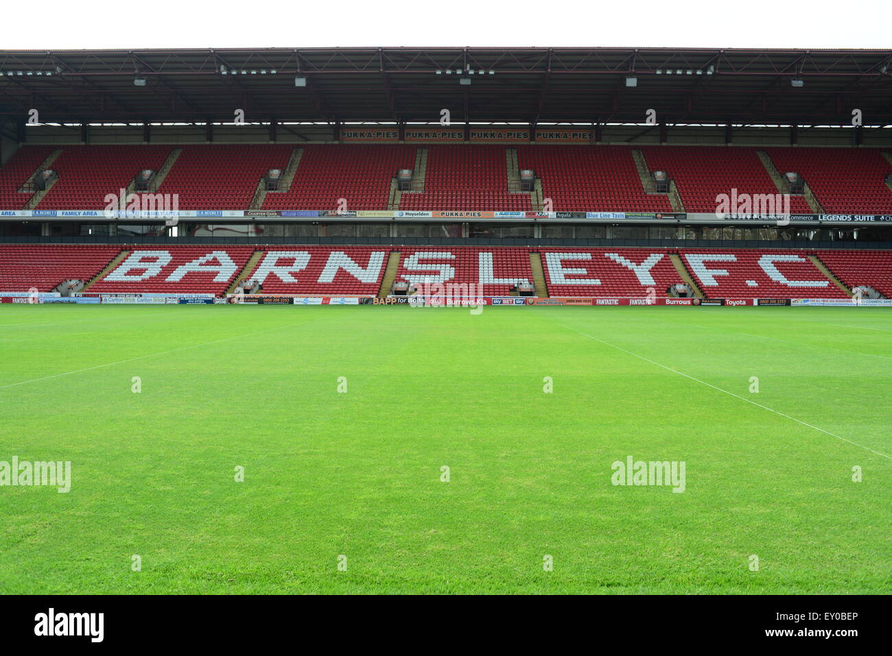 East Stand, Barnsley FC, Oakwell, Barnsley. Picture: Scott Bairstow/Alamy - Stock Image