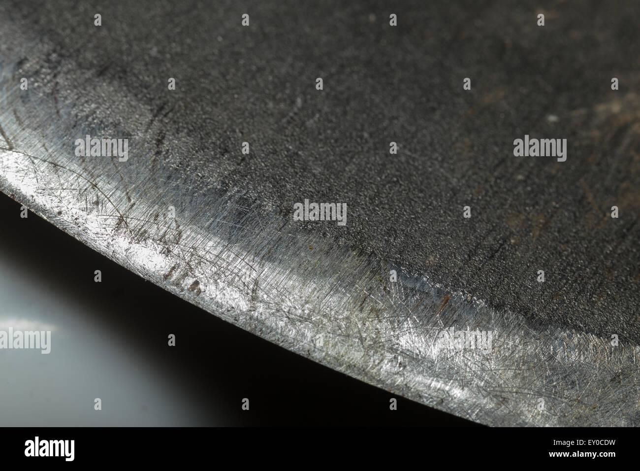 Macro Photo of Axe Blade - Stock Image