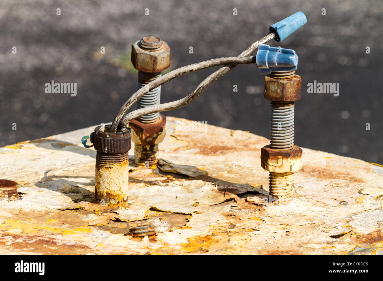 Old electrical connections - Stock Image