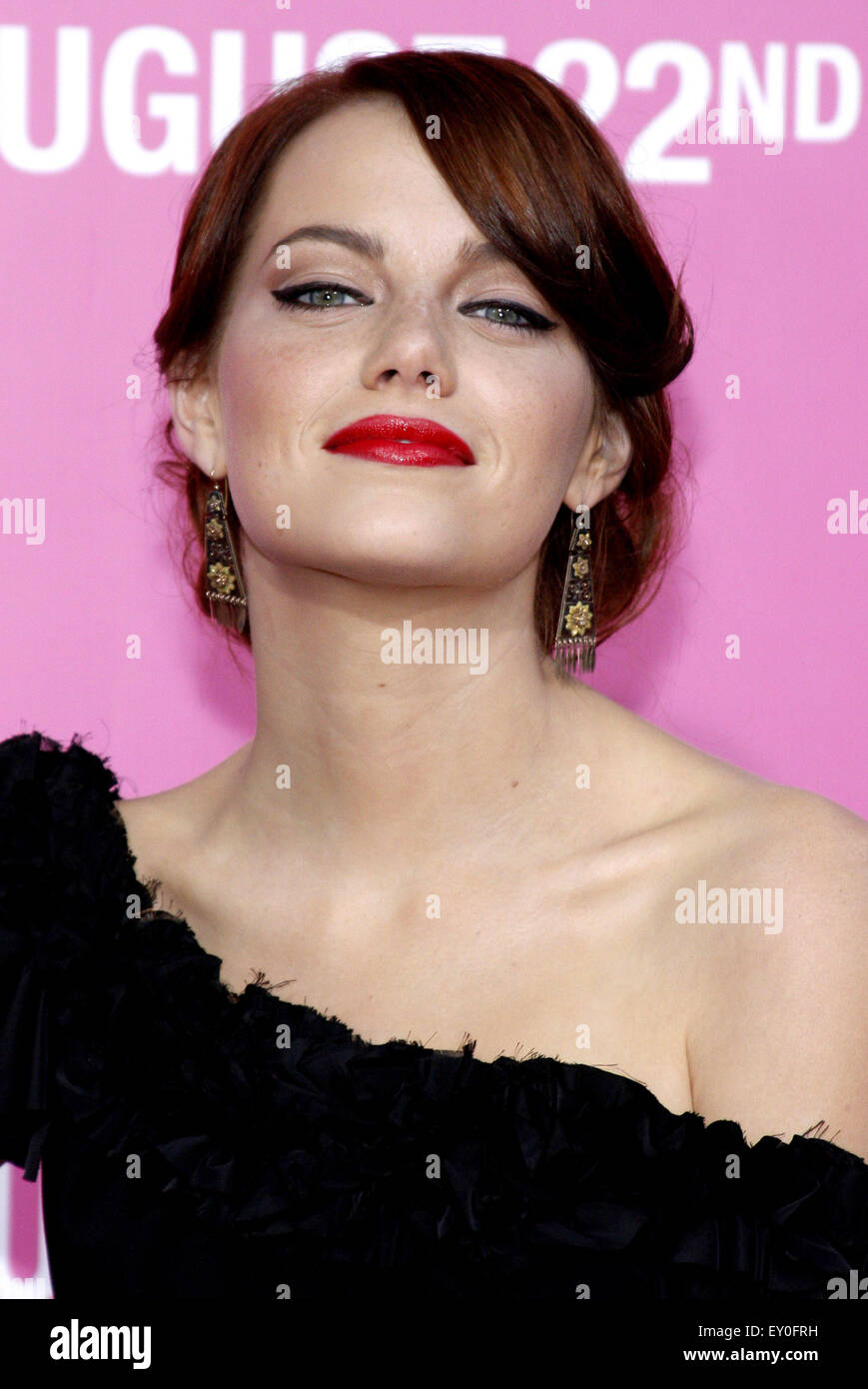 Emma Stone at the Los Angeles premiere of 'House Bunny' held at the Mann Village Theatre in Westwood on - Stock Image