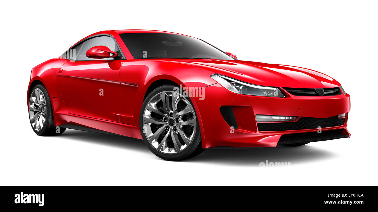 Generic red sports car - Stock Image