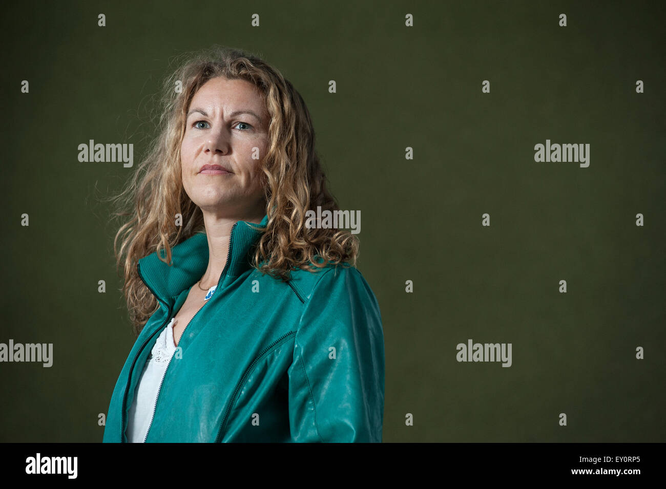 Kate Tough attending the Edinburgh International Book Festival - Stock Image