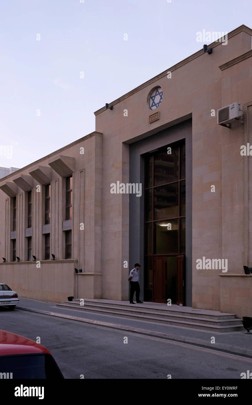 Exterior of Synagogue of the Ashkenazi Jews in the city of Baku capital of Azerbaijan - Stock Image
