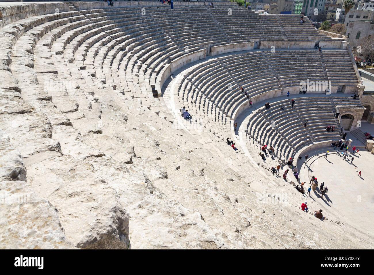 The Roman theater in Amman, Jordan. Stock Photo