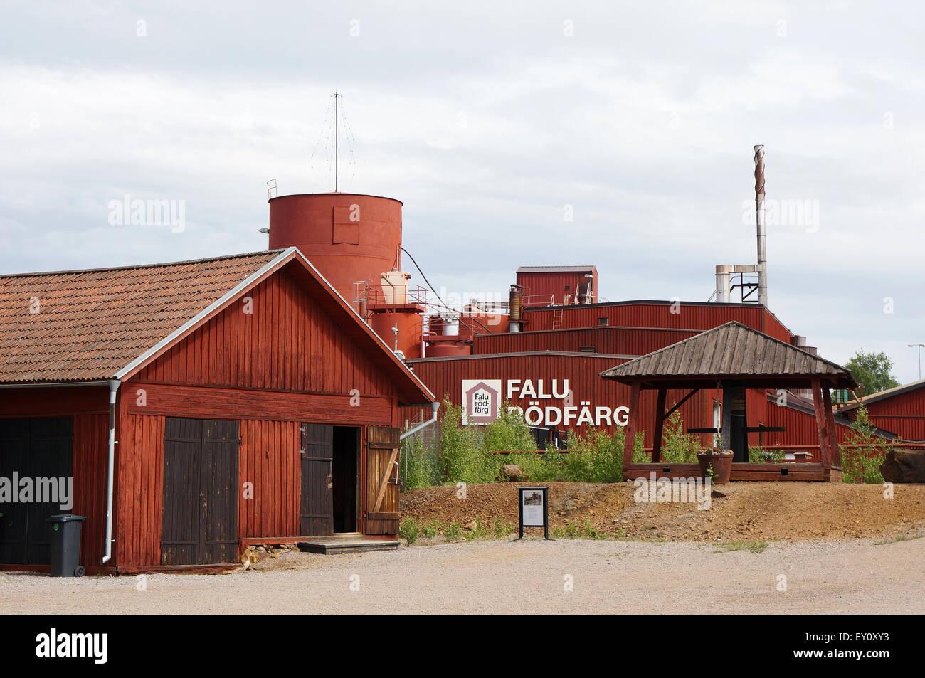 Falu Rödfärg pigment factory, Falun, Sweden - Stock Image