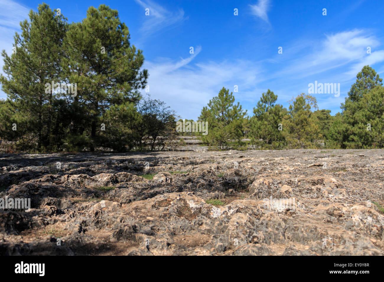 Landscape in Ciudad Encantada - Stock Image